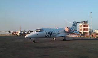 UN Learjet