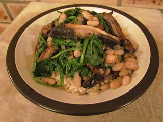 Pan-Seared Portobellos with White Beans and Spinach