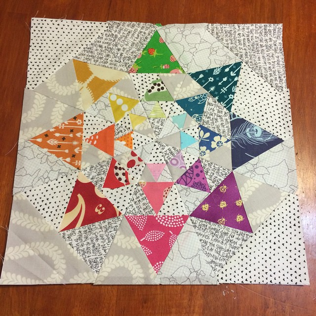 Well that went amazing and was super easy. A little late, but it will be in the mail ASAP. #roundtripquilts