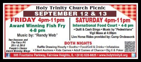 Holy Trinity 9-12, 9-13-14