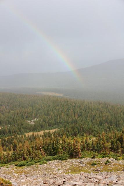 Rainbow at Mt Audubon