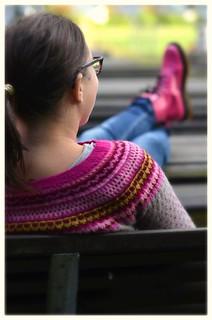 Damejakka Loppa og rosa sko