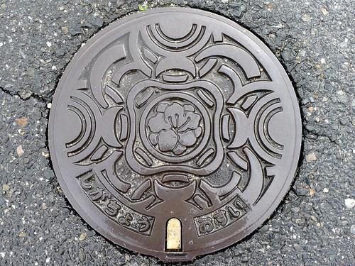 Shiga town Shiga pref, manhole cover 2 (滋賀県志賀町のマンホール2)