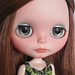 OOAK Hand-Painted Eye Chips for Blythe Doll - Sparkling Spring Greens by Oly in Wonderland