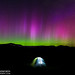 Northern Lights Over the White Mountains by Adam Woodworth