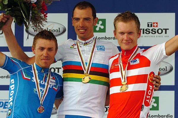 Il podio mondiale di Varese 2008
