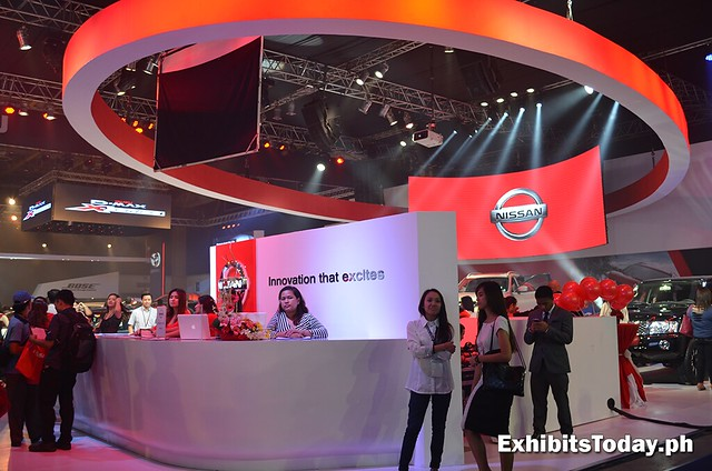 Front of Nissan Trade Show Display