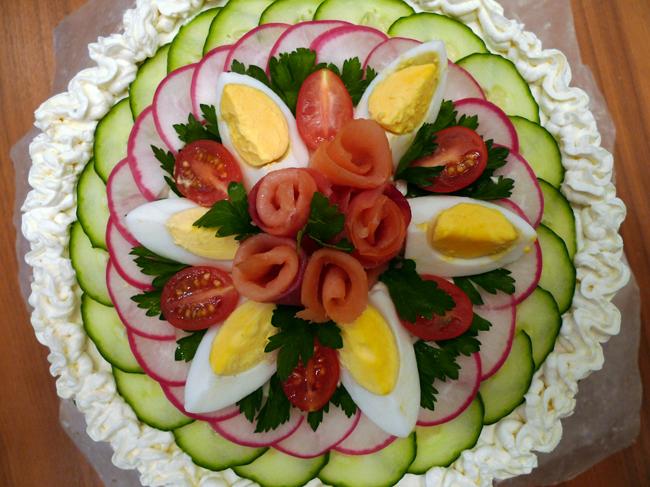 Smorgastorta: Sandwich Cake