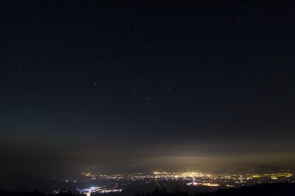 2014.09.22 御殿場の空に上るオリオン座