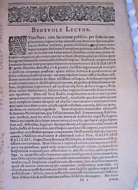 Galileo 1635 benevole lector