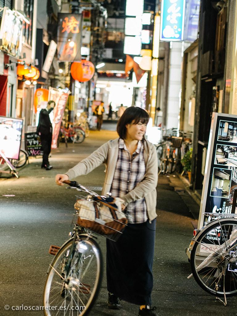 Ciclista en Gion - Kioto