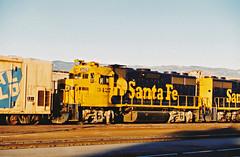 Santa Fe GP39-2u At San Bernardino
