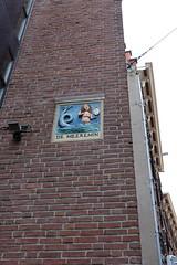 Mermaid gable stone Amsterdam