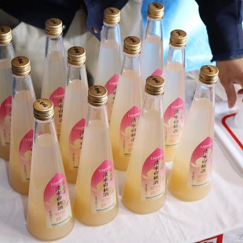 桃のお酒、清水白桃酒。 #赤磐市 #種まく旅人 #ロケ地ツアー