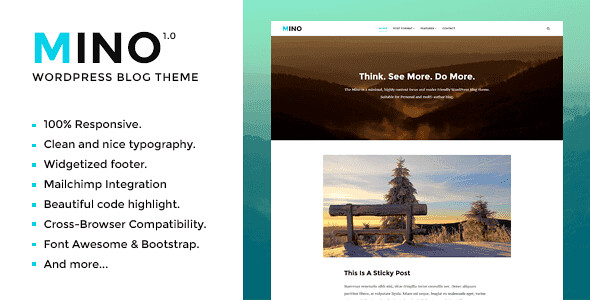 Mino WordPress Theme free download