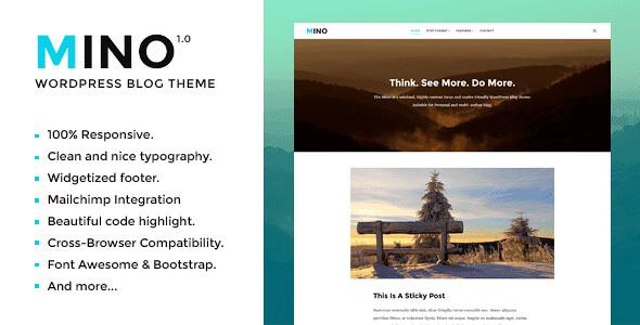 Mino WordPress Theme free download