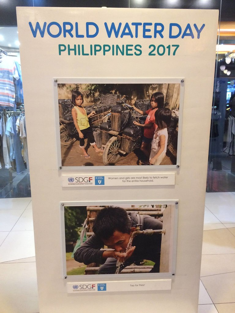 #WorldWaterDay exhibit at Market Market Taguig