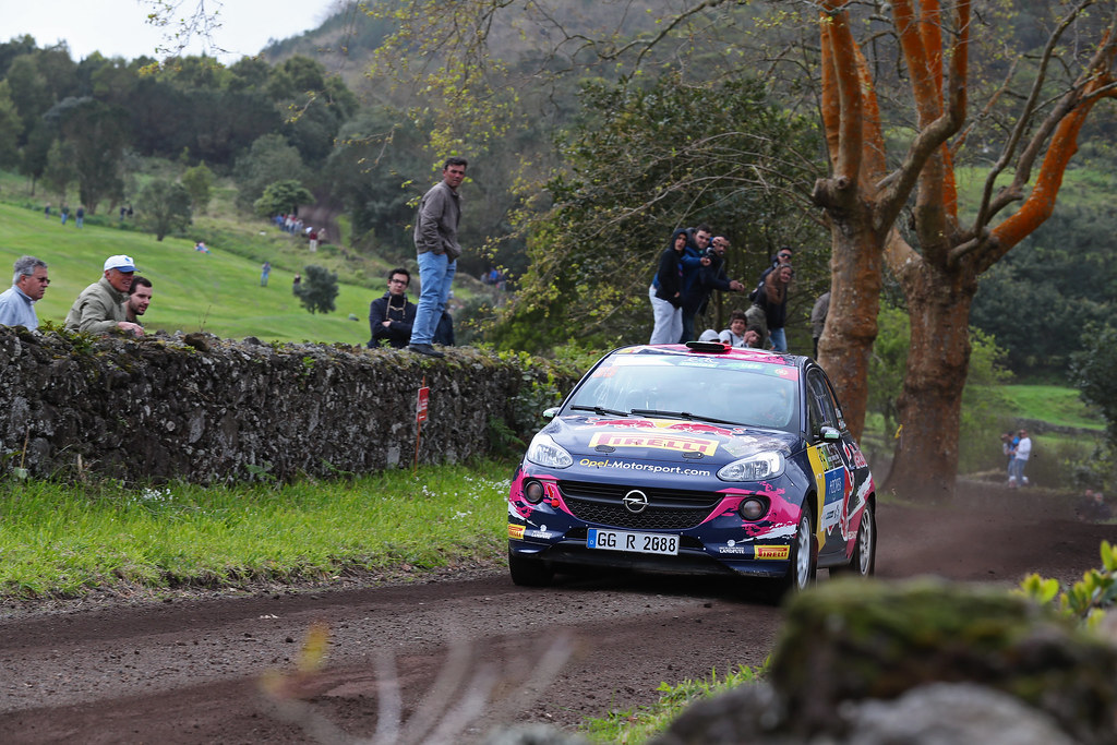 35 MOLINARO Tamara MAYRHOFFER Ursula Opel Adam R2 Action during the 2017 European Rally Championship ERC Azores rally,  from March 30  to April 1, at Ponta Delgada Portugal - Photo Gregory Lenormand / DPPI