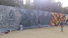 El muro de la Ciutadella del Tricentenario