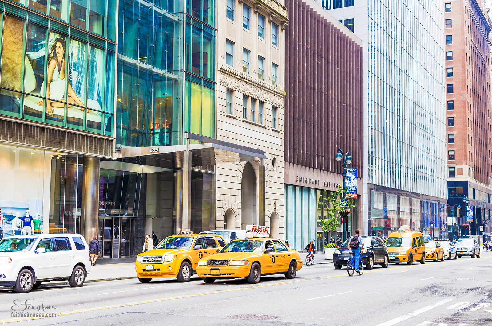 Yellow cabs in NY