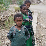 Ethiopian Girls on the Road to Lalibela - Ethiopia