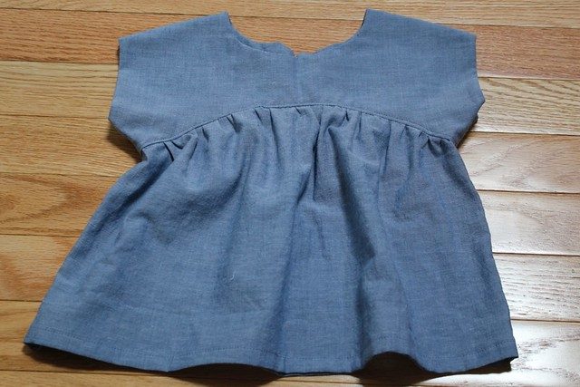 Chambray Izzy Top - Front View