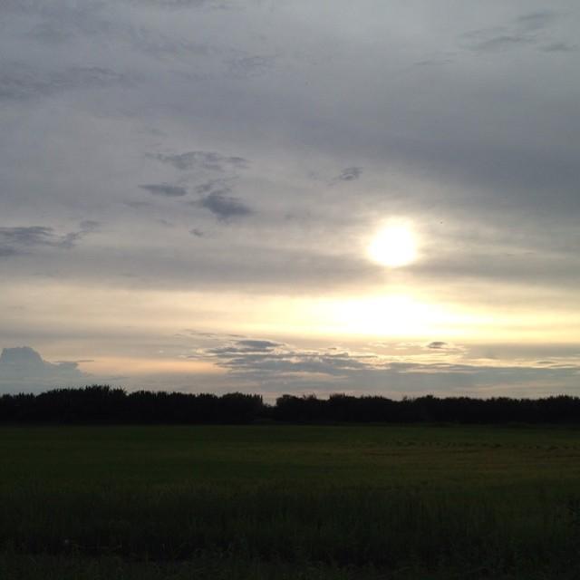 prairie sunset from the Janzen estate