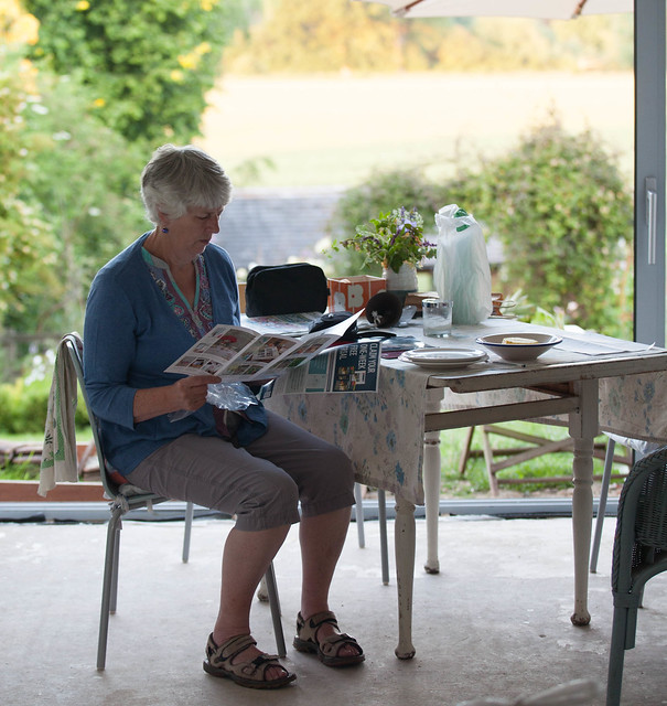 Granny and the weekend paper