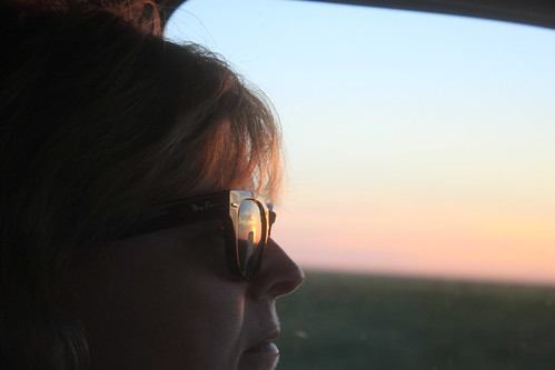 Mom looking cool in her Ray Bans.