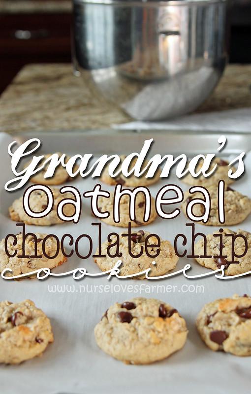 Grandma's Oatmeal Chocolate Chip Cookies