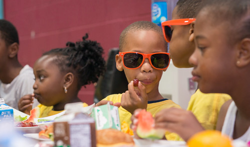 Children in Baltimore enjoy healthy offerings at one of the city's summer meals sites.