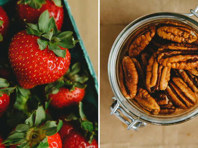Strawberries and pecans
