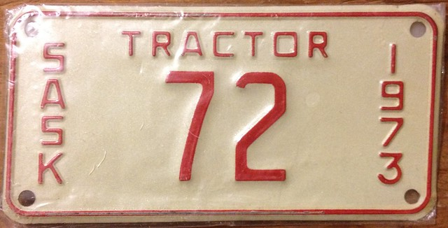 Tractor License Plates : Saskatchewan tractor license plate flickr