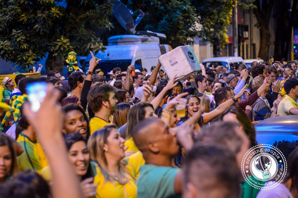 Fans Cheer for Brazil at World Cup 2014