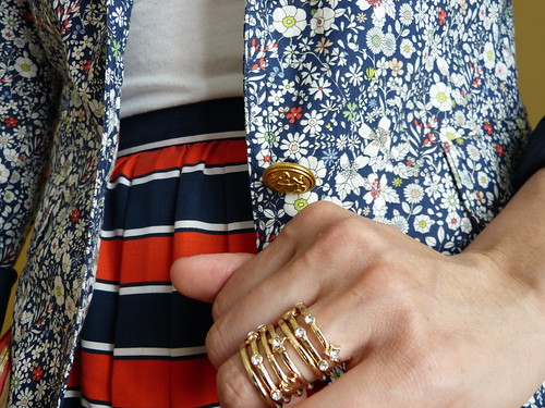 gondola stripes + liberty floral