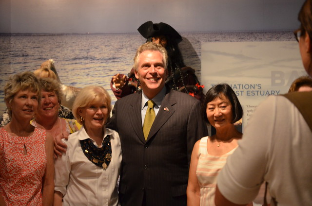 Governor McAuliffe stops for a photo with members of the Princess Anne Garden Club who are big supporters of First Landing State Park