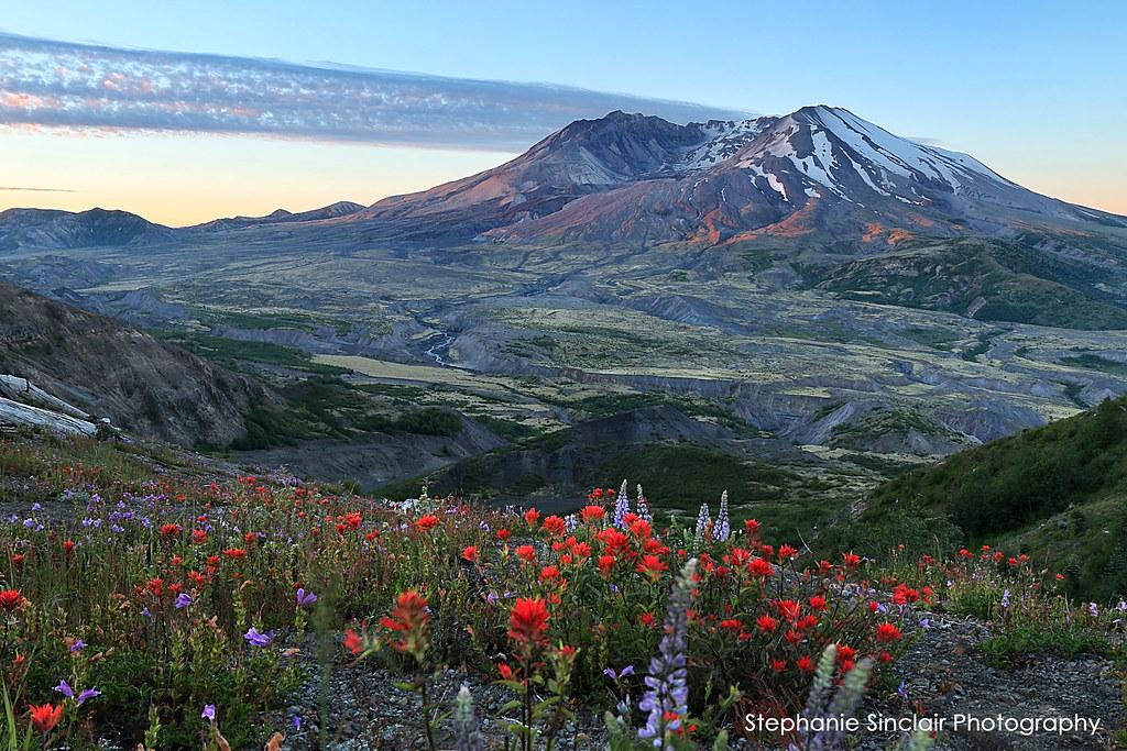 St Helens Sunrise 7-6-14 Washington State, USA