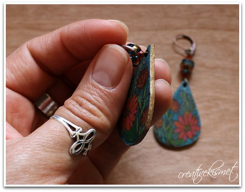 shrink plastic earrings by Regina Lord