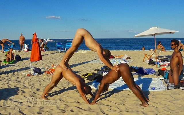 naturist yoga 0011 Sandy Hook, NJ, USA