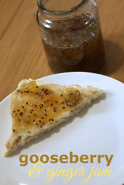 Gooseberry ginger jam