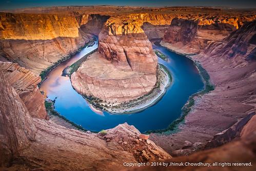 morning arizona rock sunrise erosion page coloradoriver ravine gorge geology f25 f20 horseshoebend pageaz