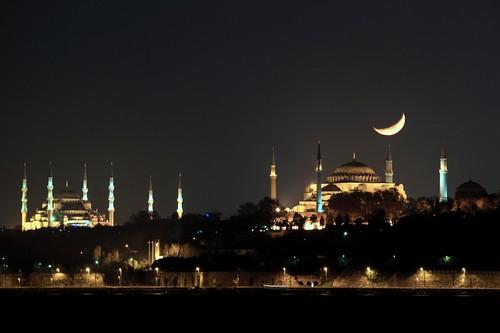 The Blue Mosque, Hagia Sophia and Crescent