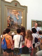 I bambini in visita nella Chiesa di Sant'Oronzo