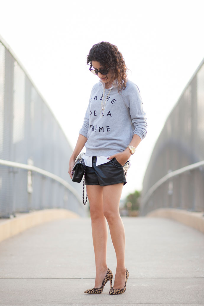 These Halogen Leather Shorts are the 'Crème de la Crème'