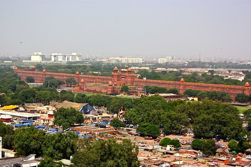 The Red Fort from on high