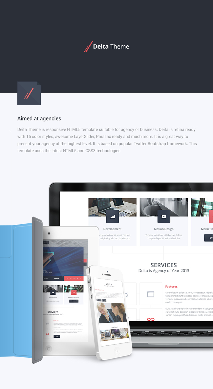 Deita Theme - Multi Page Agency HTML Template