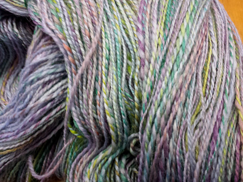 Tour de Fleece - Finished Yarn Prebath - The First Draft Merino/Silk in Coldilocks Colorway