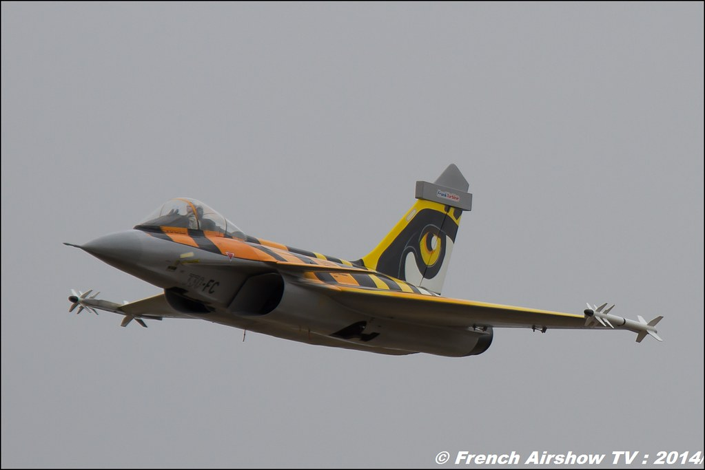 Franck Turbine, Rafale aux couleurs du Tigre RC, AMC Blériot Meeting Aerien BA-133 Nancy Ochey 2014