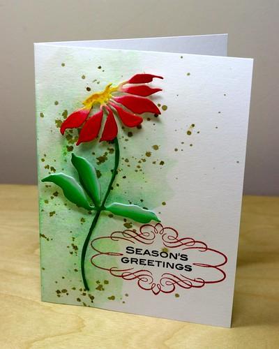 Poinsettia splatter