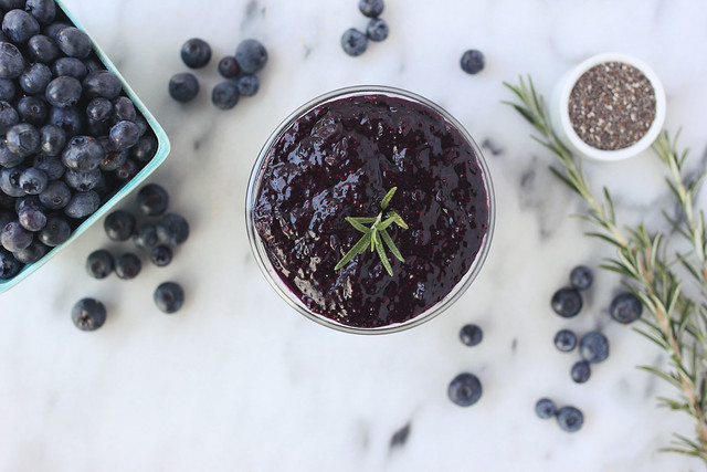 Blueberry Rosemary Chia Seed Jam